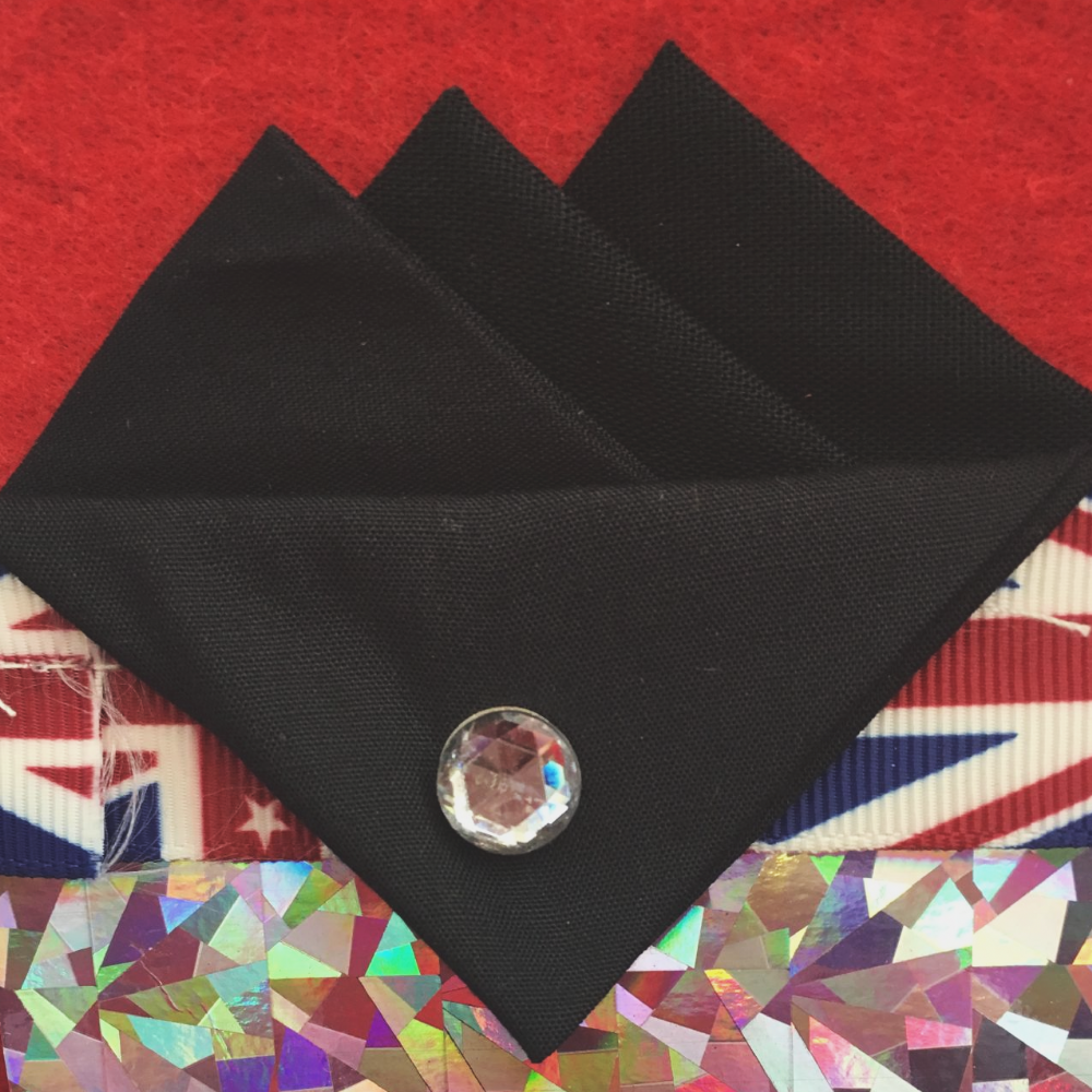 Black Three Point Pocket Hankie & Pin